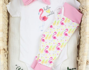 Flamingo Theme - Organic Baby Apparel