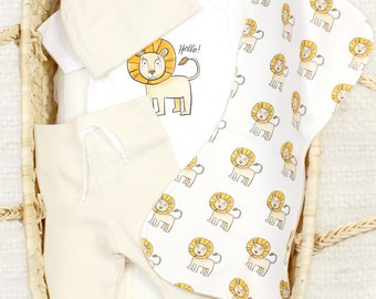 Friendly Lion Theme - Organic Baby Apparel