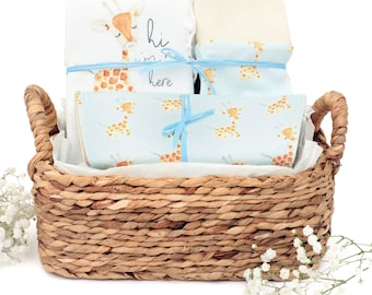 Giraffe Theme - Organic Baby Boy Gift Bundle