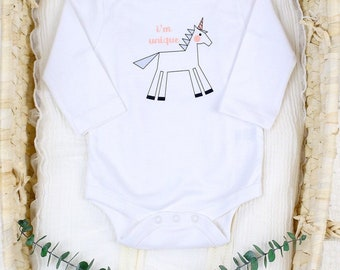 Unicorn I'm Unique - Organic Baby Bodysuit