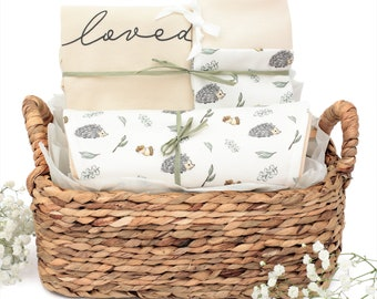 Curious Hedgehog Theme - Organic Baby Gift Bundle