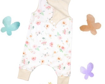 Spring Floral Watercolor - Organic Baby Romper