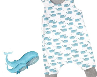Mom & Baby Whale - Organic Baby Romper