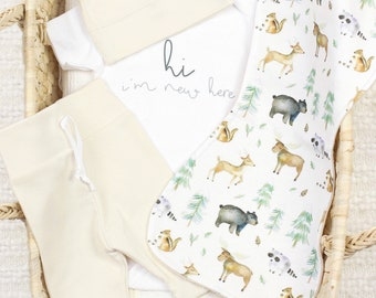 Woodland Friends Theme - Organic Baby Apparel