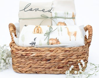 Woodland Animals Theme - Organic Baby Gift Bundle