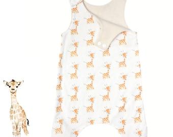 Neutral Baby Giraffe - Organic Baby Romper