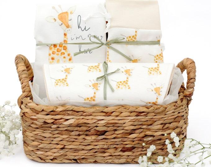 Featured listing image: Baby Giraffe Theme - Organic Baby Gift Bundle