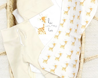 Baby Giraffe Theme - Organic Baby Apparel
