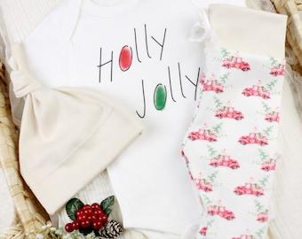 Holly Jolly Christmas Theme - Organic Baby Apparel