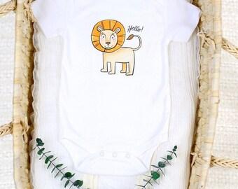 Friendly Lion - Organic Baby Bodysuit