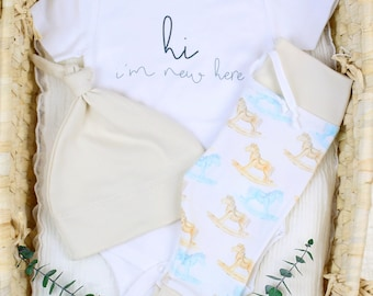 Rocking Horse Theme - Organic Baby Apparel