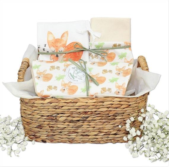Organic Baby Gift Gender Neutral Baby Gift Baby Welcome Gift Set Organic Baby Gift Box Corporate Baby Gift Woodland Fox Baby Gift