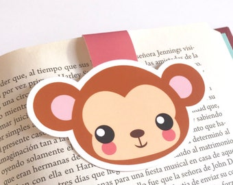 Monkey Bookmarks - Monkey Magnetic Bookmarks