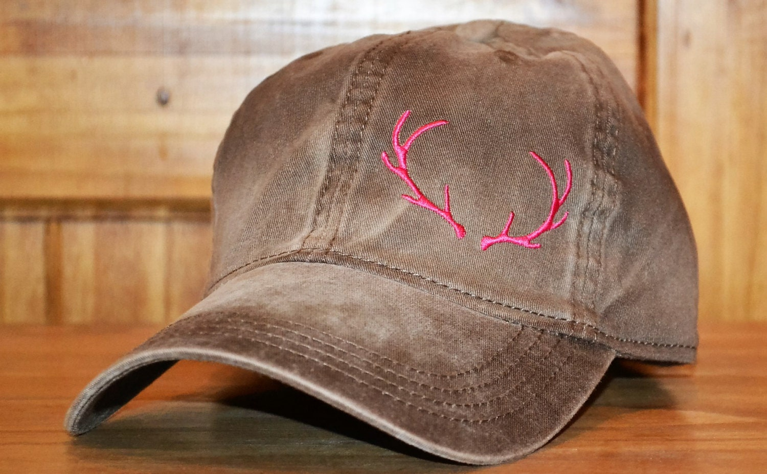 aa53bc401 Antler - Brown Distressed - Hunt Mania Cap