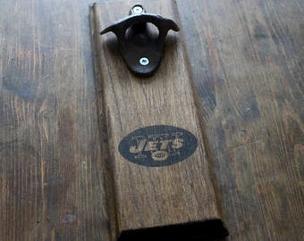 new york jets gift wall mount rustic bottle opener your team christmas gift