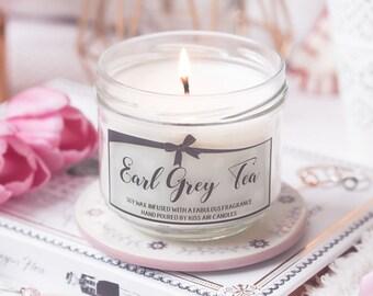 Tea candle, Earl Grey Tea Candle,  gift for tea lover, Early Grey Tea, Tea gift,  scented candle, tea lover, scented candle, soy wax candle