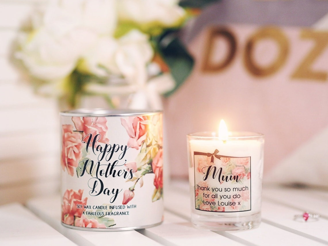 Personalised mum candle