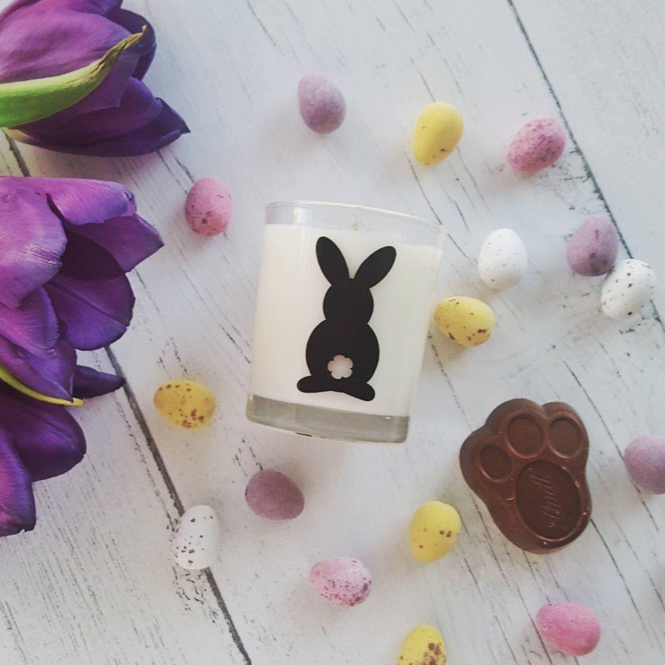Bunny Decor Rabbit Decor Easter Decorations Easter Decor Easter Gift Easter Candles Easter Candle Holder Easter Chocolate