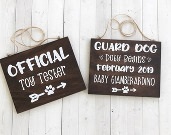 Baby Announcement Dog Etsy