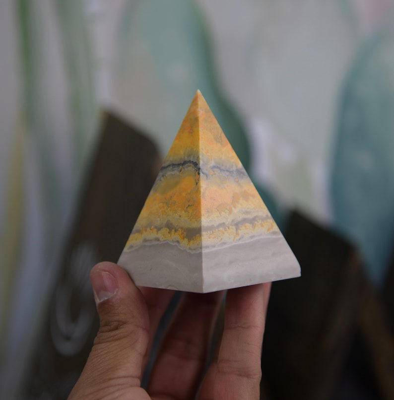 Large Bumblebee Jasper Pyramid image 0