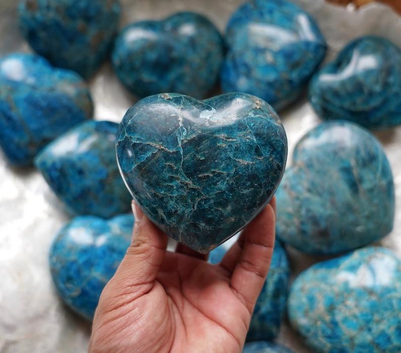 Large Blue Apatite Heart image 0