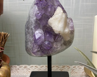 Grade A Display Amethyst & Calcite (1.3 kg Uruguay)