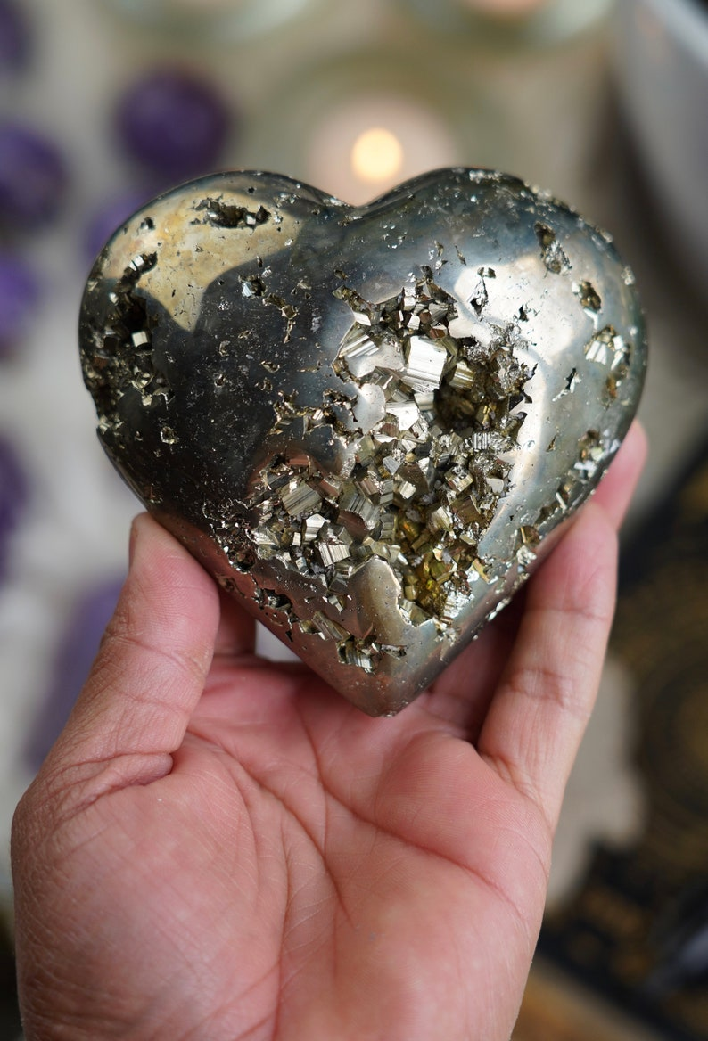 Peruvian Pyrite Heart image 0