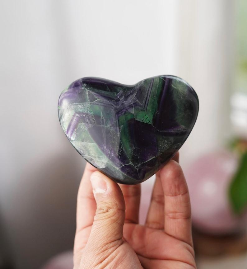 Top grade Rainbow Fluorite Heart image 0