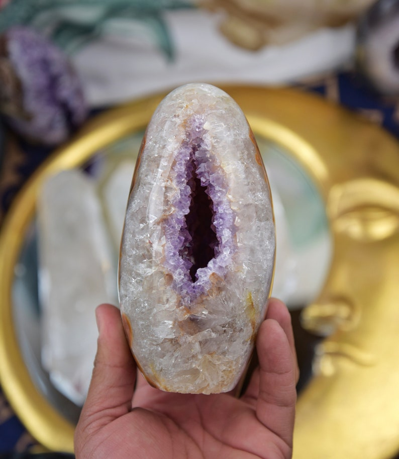 Grade AA Jasper and Amethyst Egg image 0