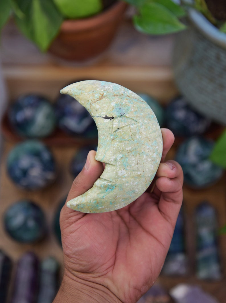 Beautiful Chrysocolla Moon image 0