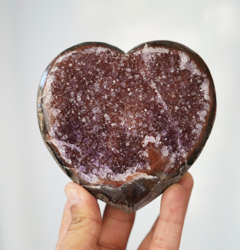 Sale  Amethyst and agate Heart Uruguay image 0