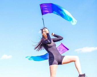 Pair Silk Flag Poi + FREE SHIPPING