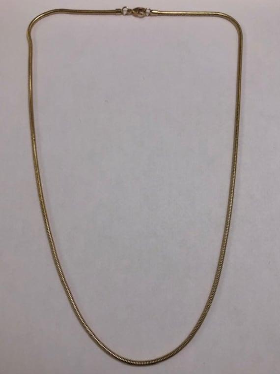 18K yellow gold snake chain