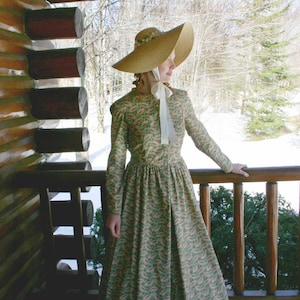 Victorian Clothing, Costumes & 1800s Fashion 90395 Harper Victorian Style Prairie Dress $139.95 AT vintagedancer.com