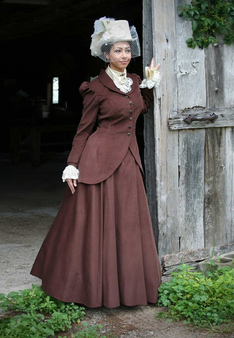 1900 -1910s Edwardian Fashion, Clothing & Costumes Quinn Corduroy Riding Suit $210.00 AT vintagedancer.com