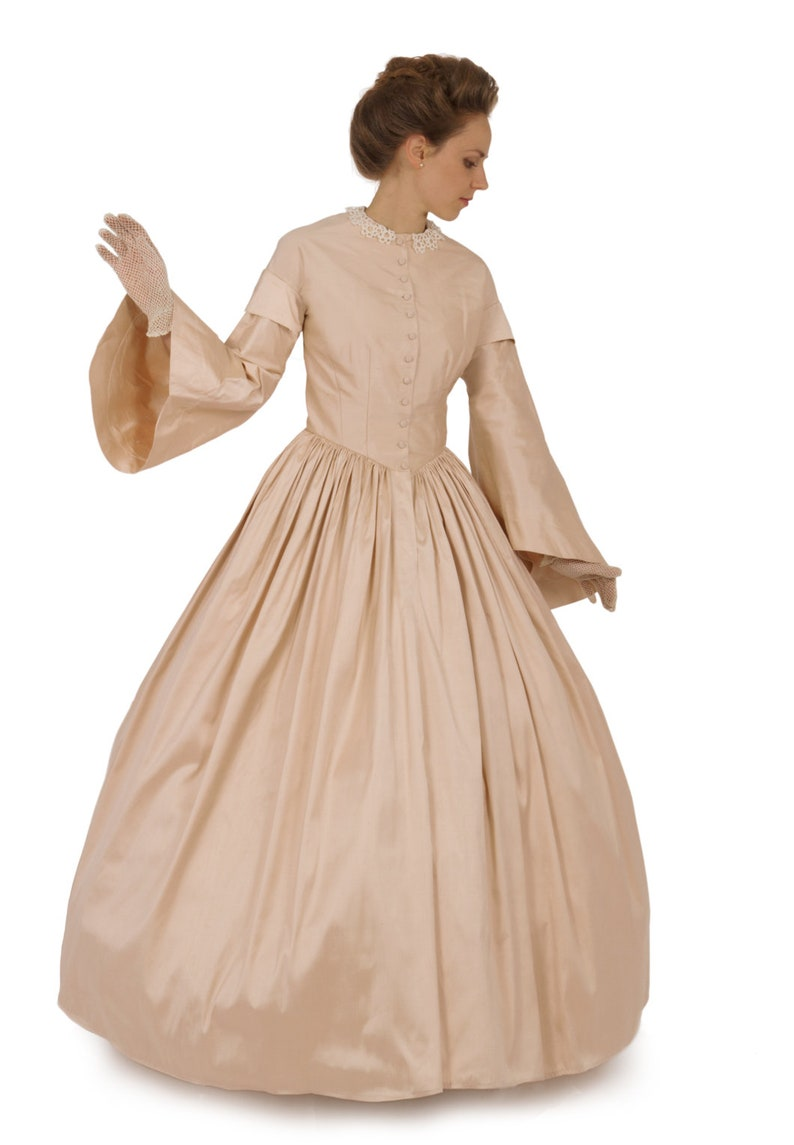Victorian Clothing, Costumes & 1800s Fashion  Pagoda Civil War Style Gown $239.95 AT vintagedancer.com