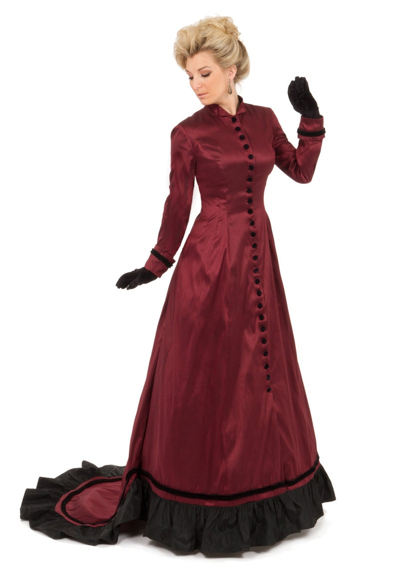 1890s-1900s Fashion, Clothing, Costumes Alexandra Victorian Gown $249.95 AT vintagedancer.com