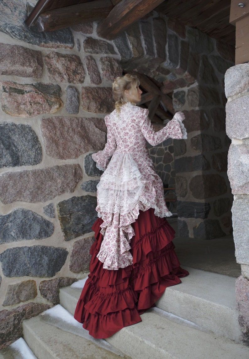 Victorian Dresses | Victorian Ballgowns | Victorian Clothing Lady Johanna Polonaise Ensemble $389.95 AT vintagedancer.com