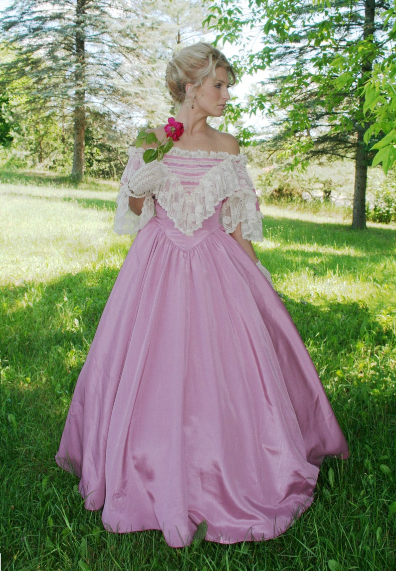 Steampunk Costumes, Outfits for Women Rosetta Belle Victorian Gown $299.95 AT vintagedancer.com