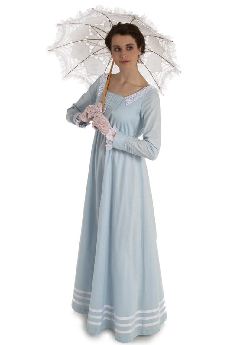 Masquerade Ball Clothing: Masks, Gowns, Tuxedos Regency Julia Dress $159.96 AT vintagedancer.com