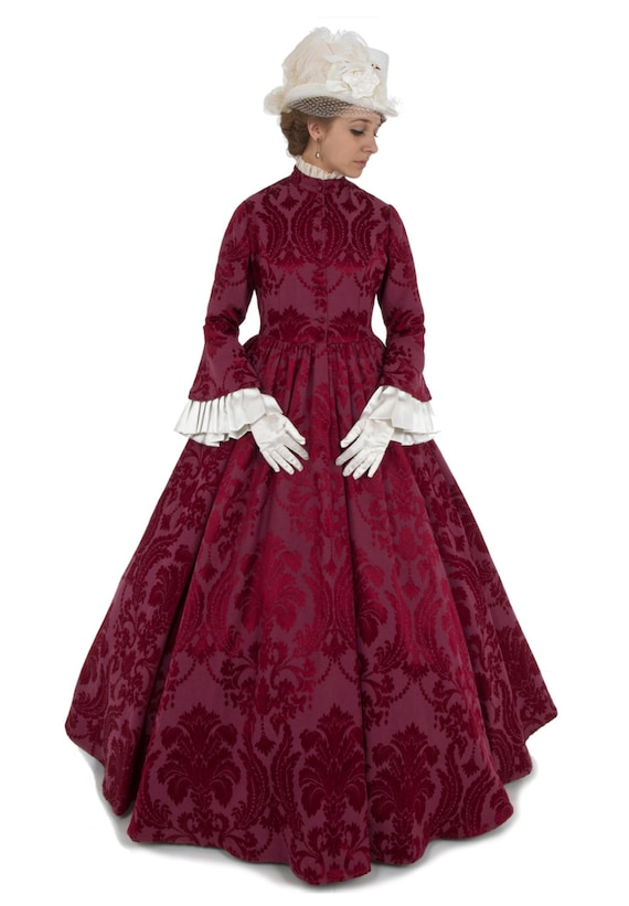 Victorian Dresses, Clothing: Patterns, Costumes, Custom Dresses  Lady Anne Civil War Era Victorian Dress $224.96 AT vintagedancer.com