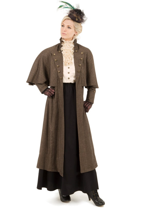 Steampunk Jacket | Steampunk Coat, Overcoat, Cape Mademoiselle Janette Edwardian Cape Coat $172.46 AT vintagedancer.com