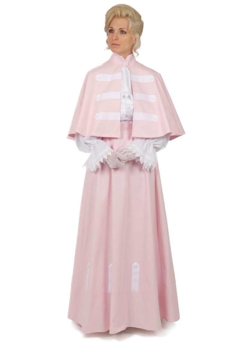Victorian Dresses | Victorian Ballgowns | Victorian Clothing Victorian Cotton Twill Cape and Skirt $219.95 AT vintagedancer.com