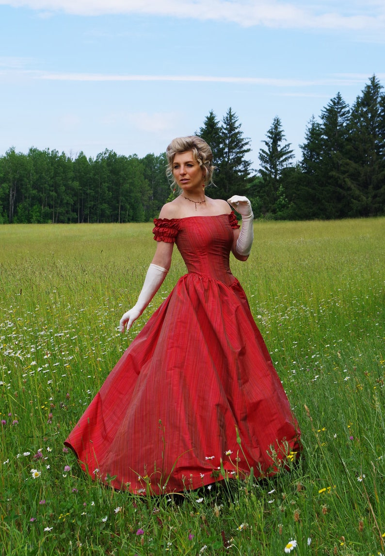 Victorian Dresses | Victorian Ballgowns | Victorian Clothing  Eugenie Victorian Ball Gown $239.95 AT vintagedancer.com