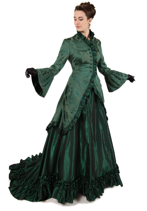 Victorian Dresses | Victorian Ballgowns | Victorian Clothing Renata Victorian Polonaise Dress $300.00 AT vintagedancer.com