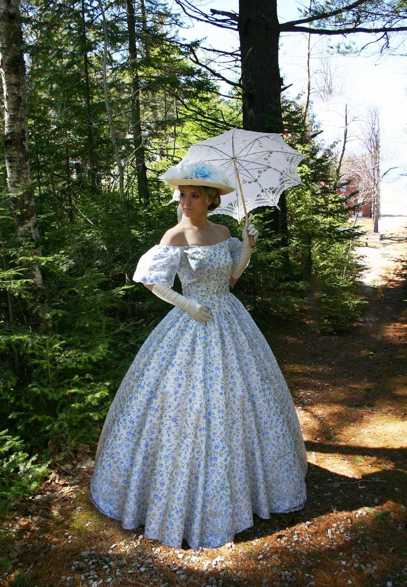 Victorian Wedding Dresses, Shoes, Accessories Euphemia Victorian Ball Gown $239.96 AT vintagedancer.com