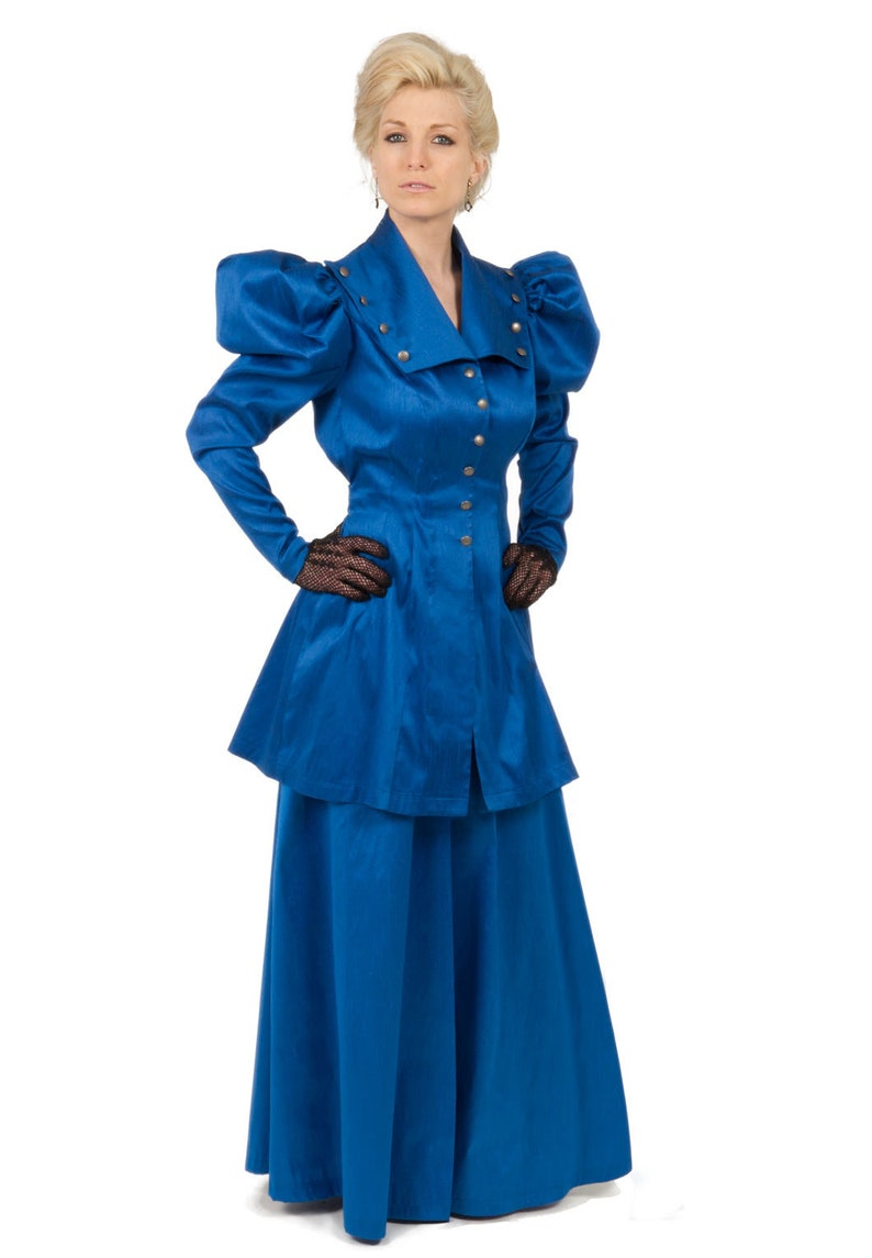 Victorian Plus Size Dresses | Edwardian Clothing, Costumes Victorian Styled Dupioni Suit $249.95 AT vintagedancer.com