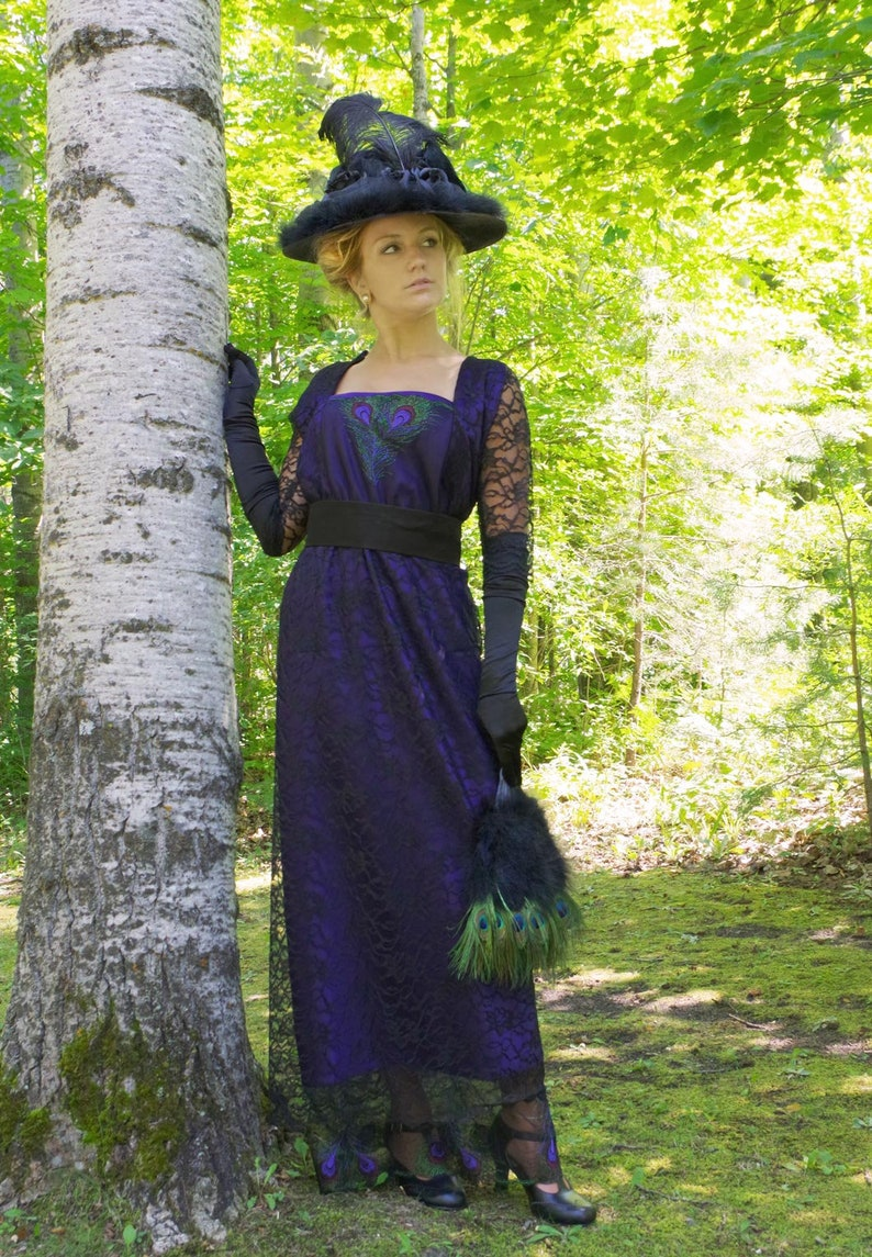 Victorian Edwardian Tea Dress and Gown Guide 200857-8 Peacock Edwardian Lace Dress $229.10 AT vintagedancer.com