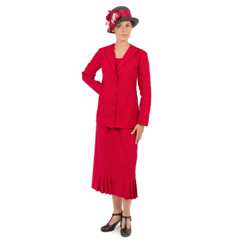 Modest, Mature, Mrs. Vintage Dresses – 20s, 30s, 40s, 50s, 60s Roaring 20s Day Suit $167.96 AT vintagedancer.com