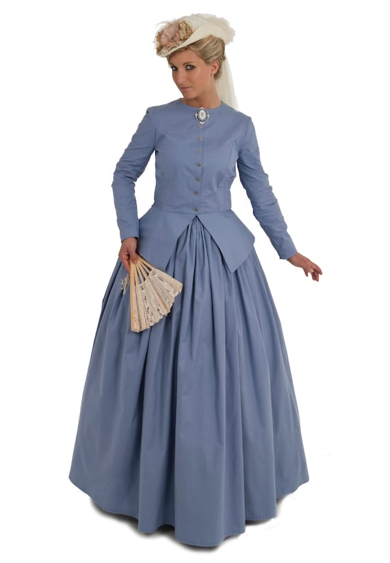 Victorian Dresses, Clothing: Patterns, Costumes, Custom Dresses  Cassidy Old West Civil War Style Dress $142.46 AT vintagedancer.com